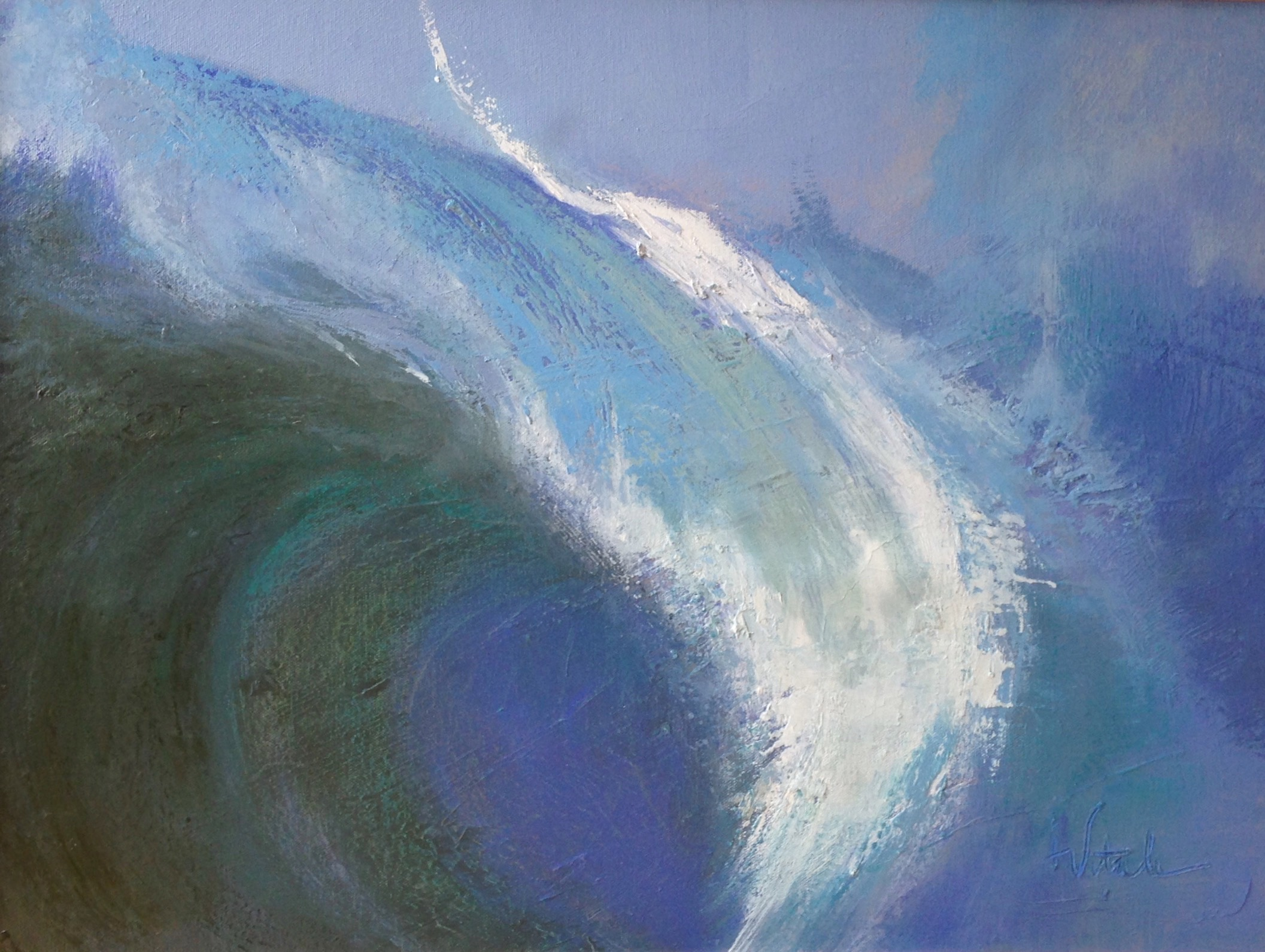 """Wave , oil on canvas, 16 x 20"""""""