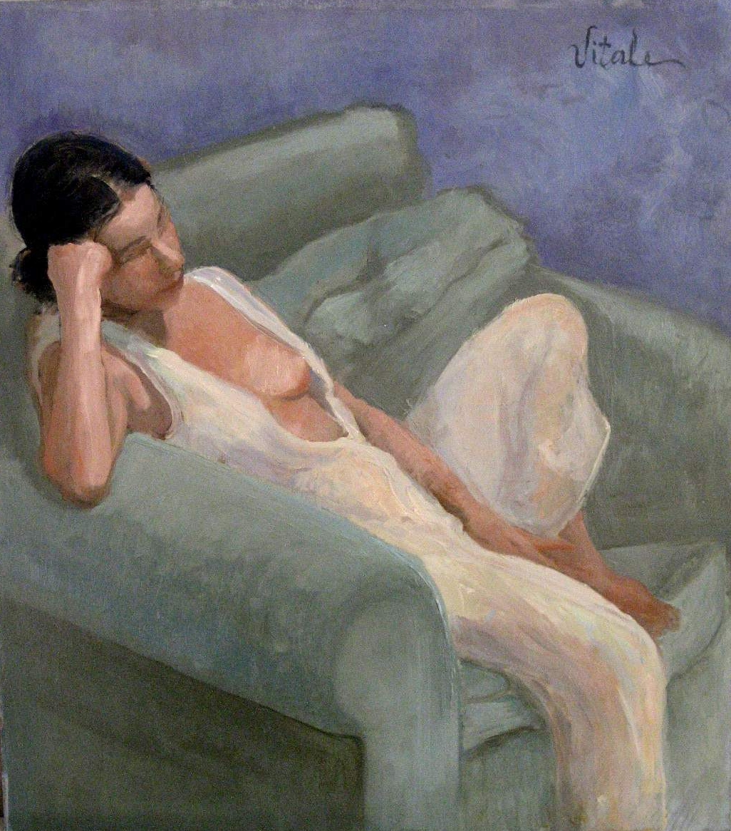 """After a Long Day , oil on masonite, 15 x 17"""""""