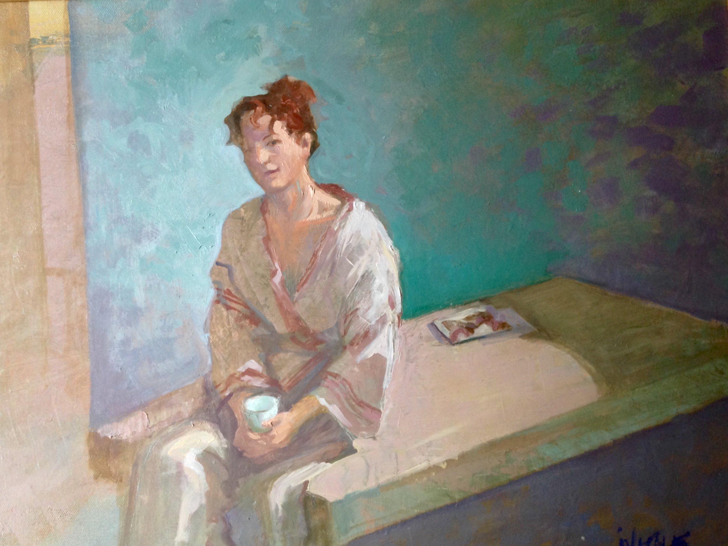 "Take Five , oil on canvas, 23.5 x 19"""