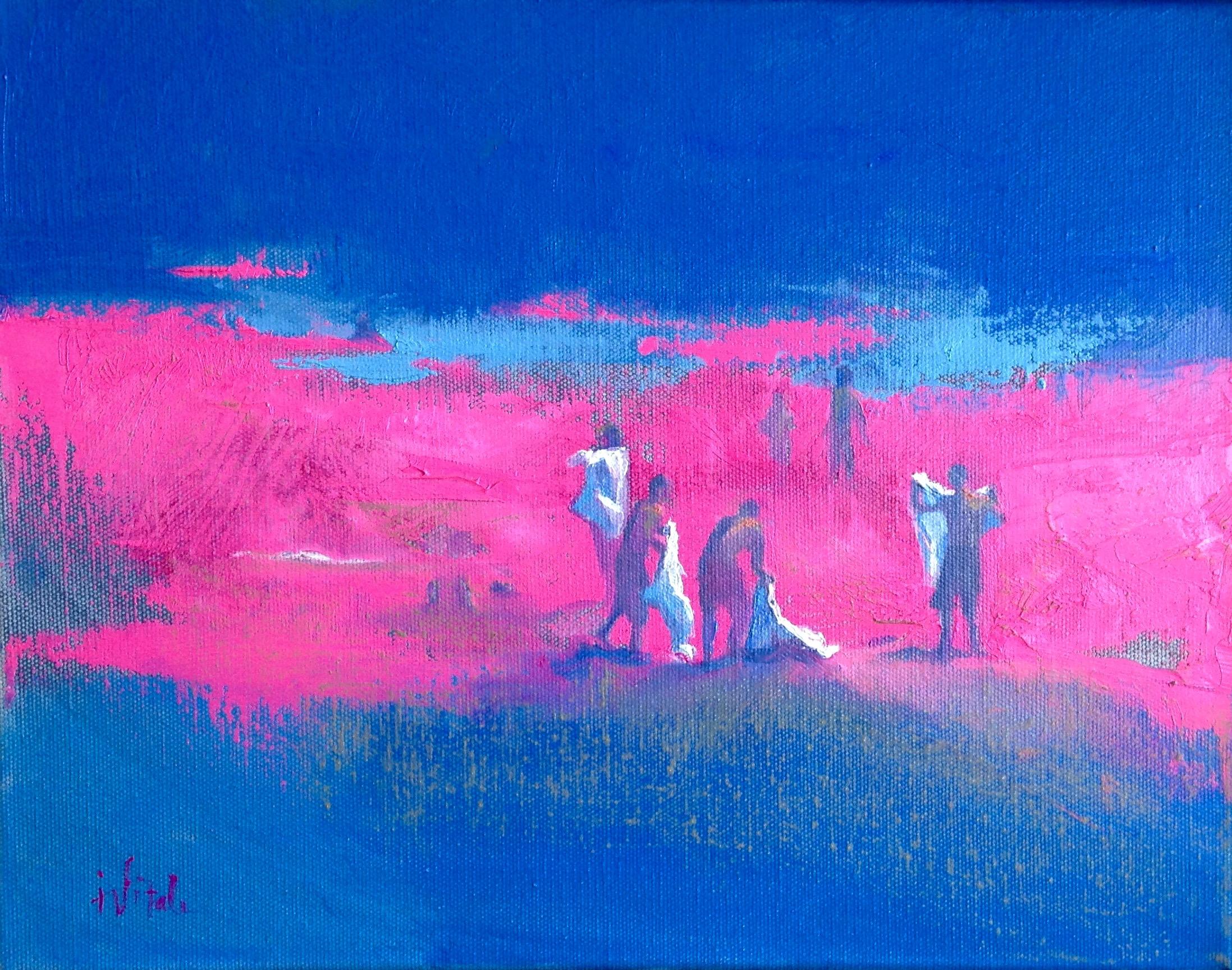 "Hot Sand , oil on canvas, 14.5 x 11.5"""