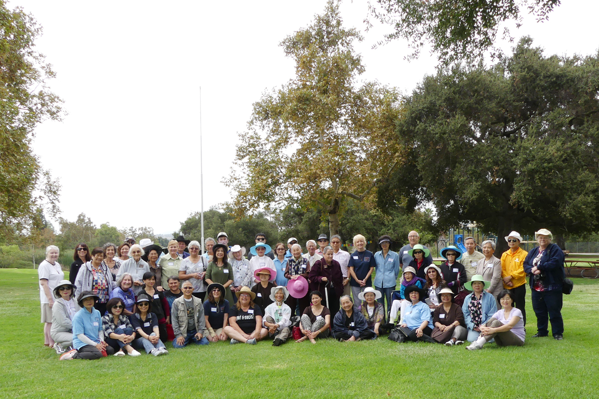 San Diego County District Fraternities gather together for a picnic August 2016.