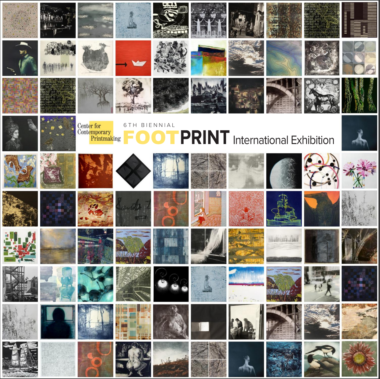 6th Biennial Foot Print International Exhibition    Online Catalogue