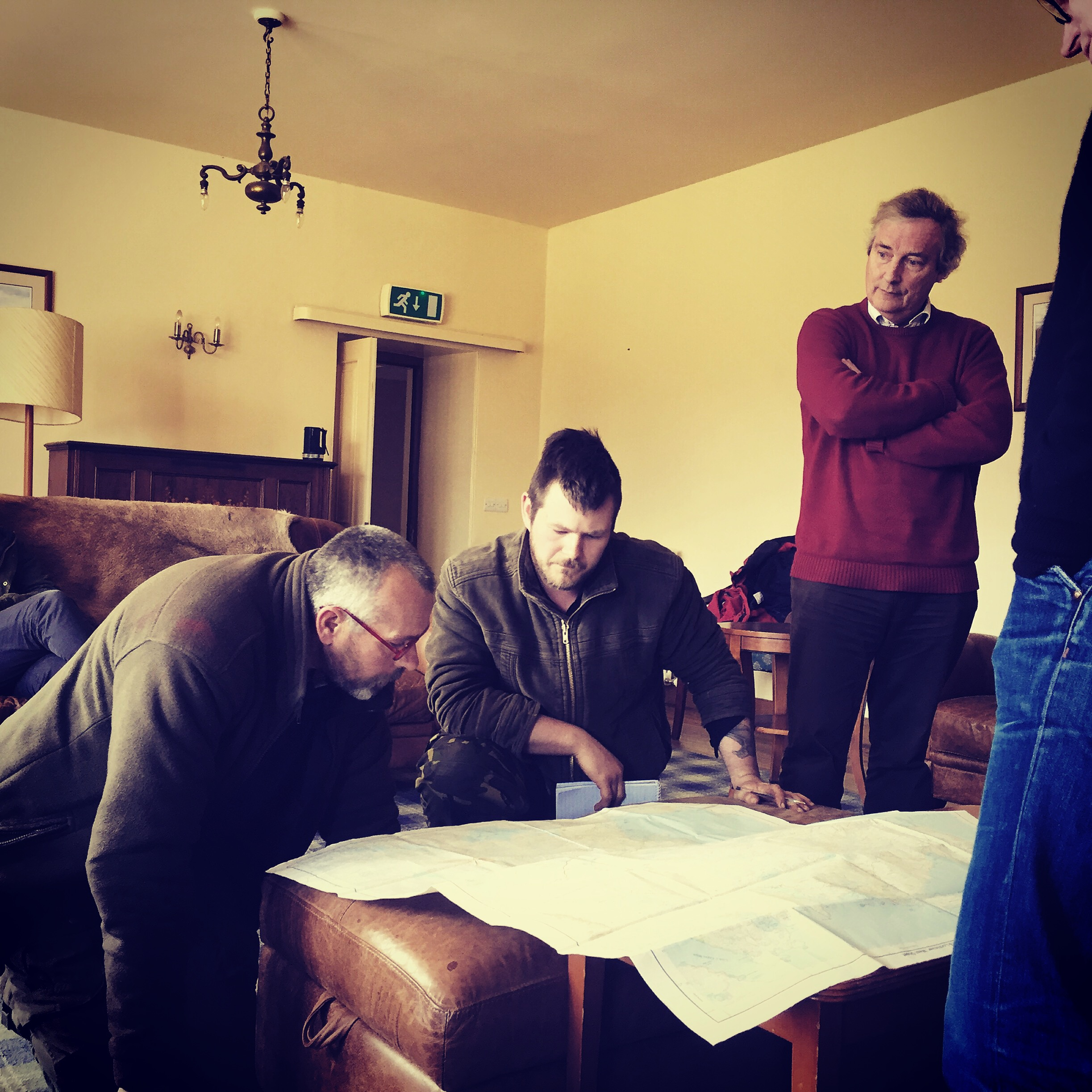 Logistical planning at Assynt lodge in Lochinver