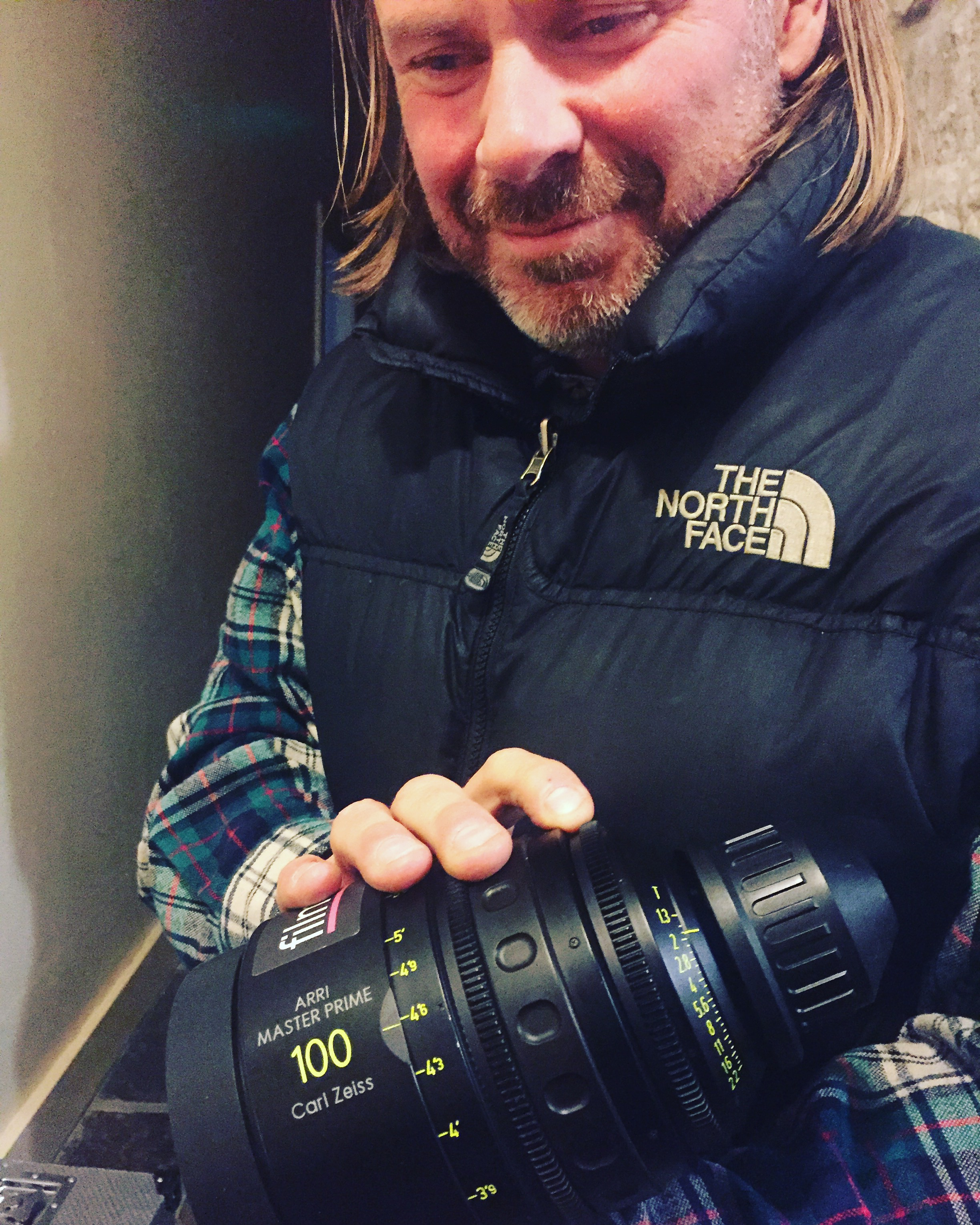 Director of Photography August Jackobsson IKS with a Carl Zeiss Master Prime lens