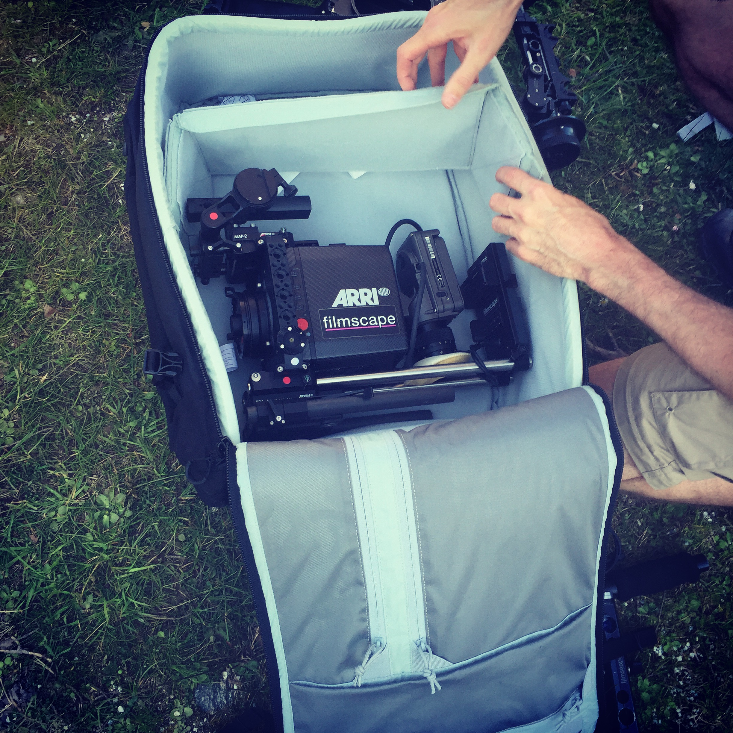 Packing away an Arri Alexa mini for the mountain climb