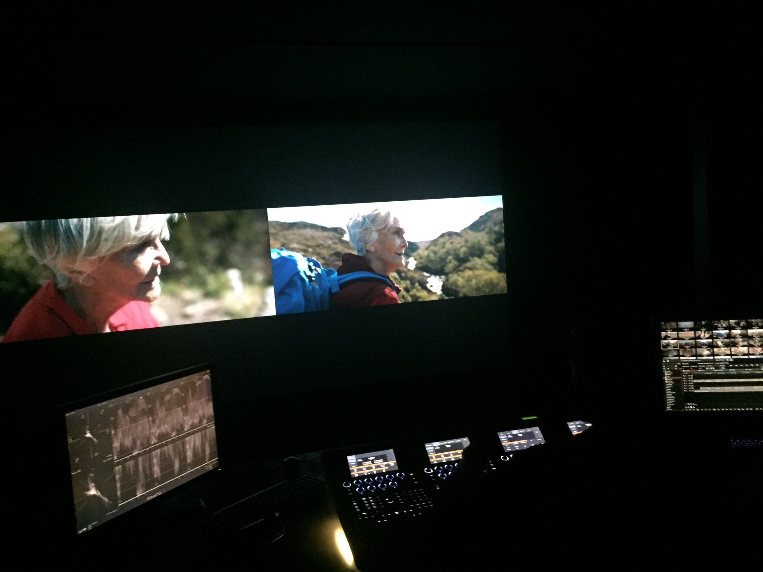 Grading with digital colourist Gregor Pfüller at Post Republic in Berlin, Germany.