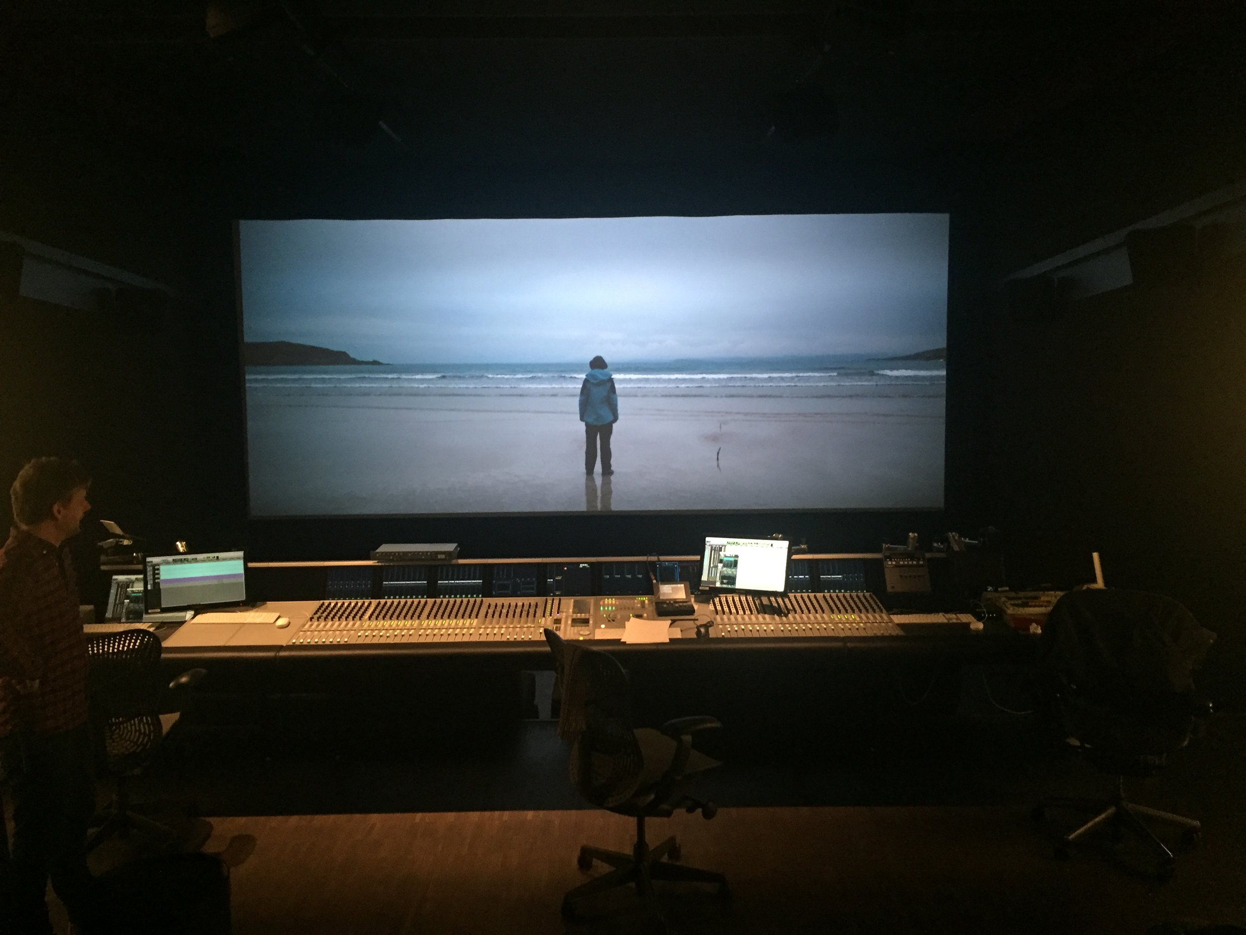 Sound mixing with Adrian Baumeister in Dolby Atmos at Post Republic in Berlin, Germany