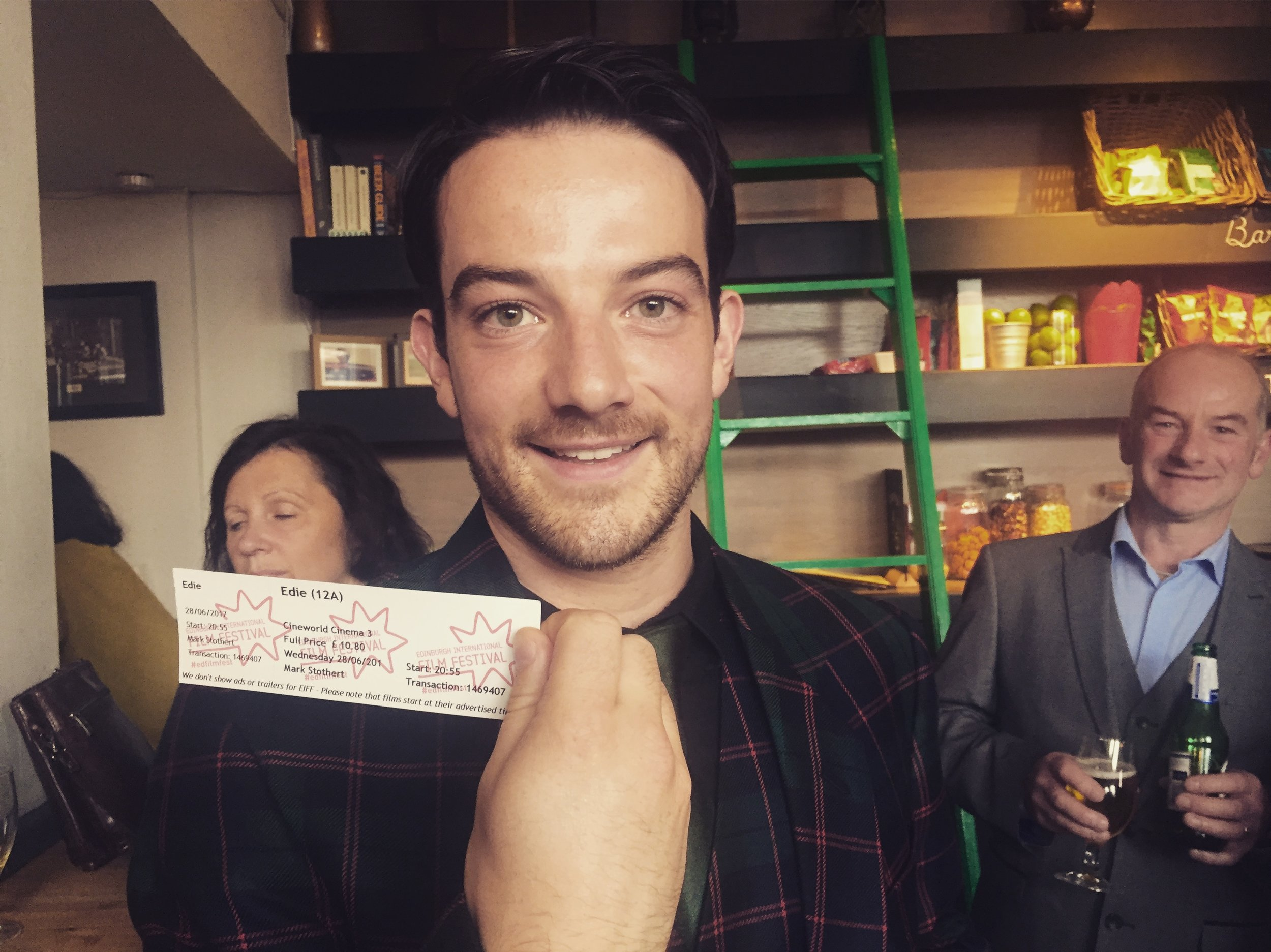 Kevin Guthrie at the Edinburgh International film festival screening of EDIE