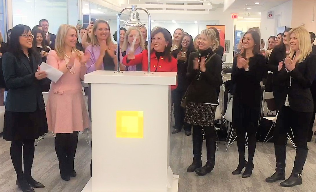 Global Bell Ring at IEX Exchange in New York to celebrate International Women's Day, 2017