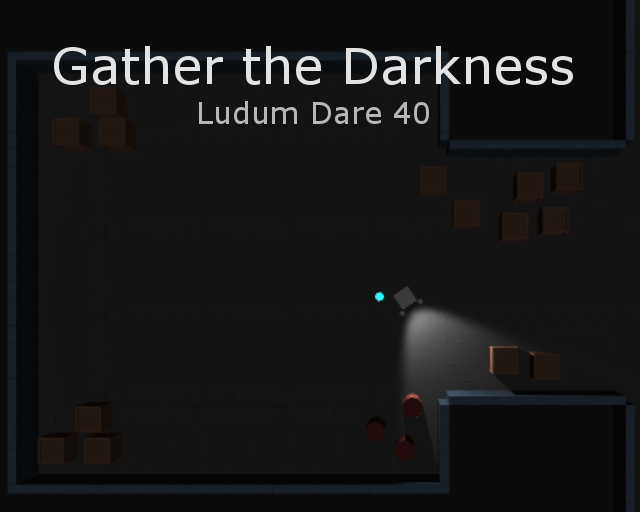 Hard to take pictures of a game that's about darkness