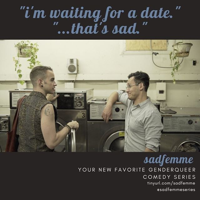 i mean... if ross and rachel did it? #laundromatdate  sadfemme is coming to you soon. don't wait in the laundromat though. you can do better.  #sadfemmeseries