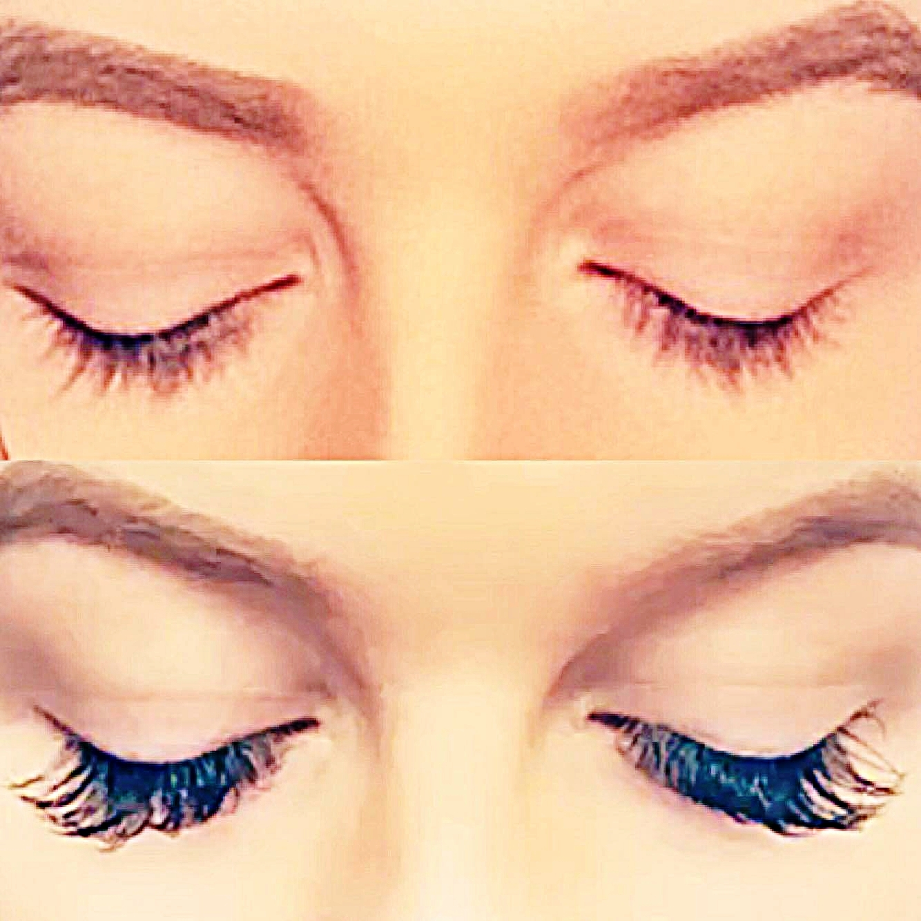 Being a natural blonde, my lashes are almost white!With  LabelleLASH  extensions, my lashes were visable + longer than ever before!