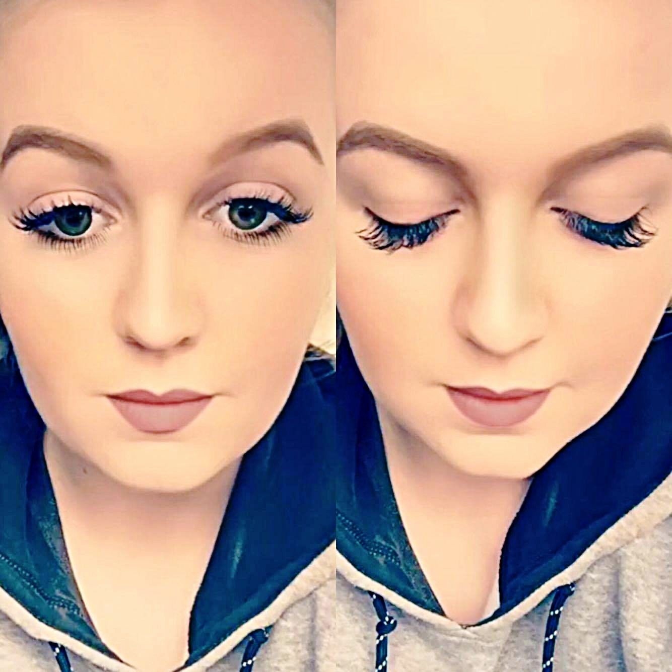 Eyelash Extensions curtesy of  LabelleLASH