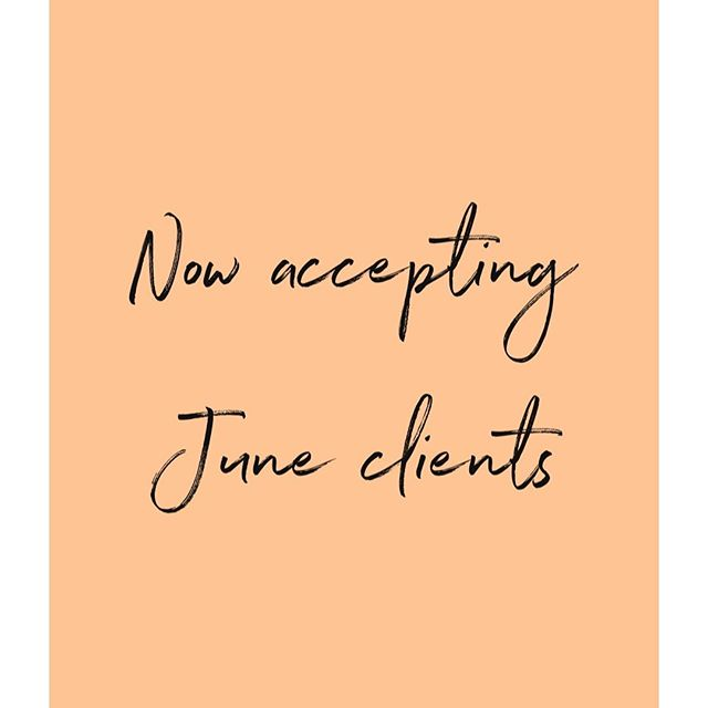 YAY, we're booked for May! Now accepting June Clients 🤩