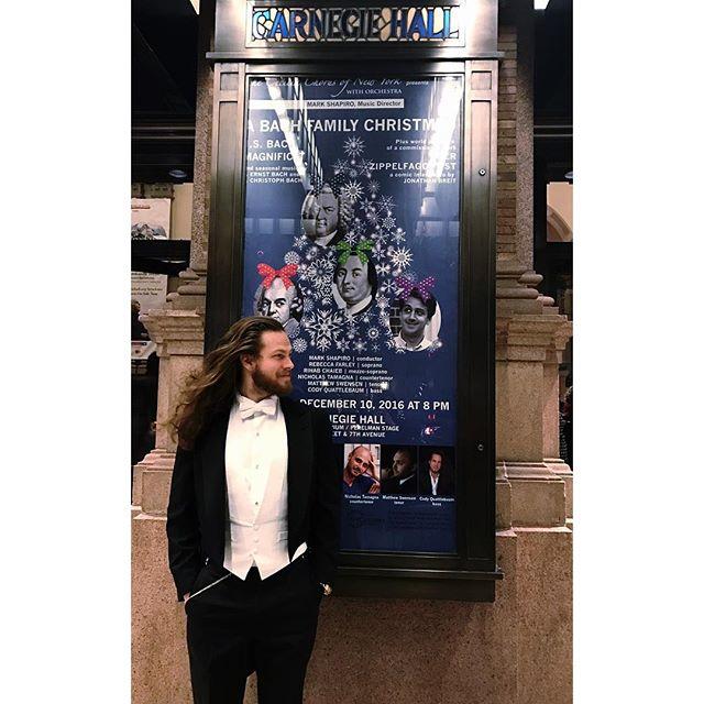 Last night I made my Carnegie Debut alongside @matthewswensen @rtfarley @rihab_chaieb @ntamagna in front of roughly 2800 people.