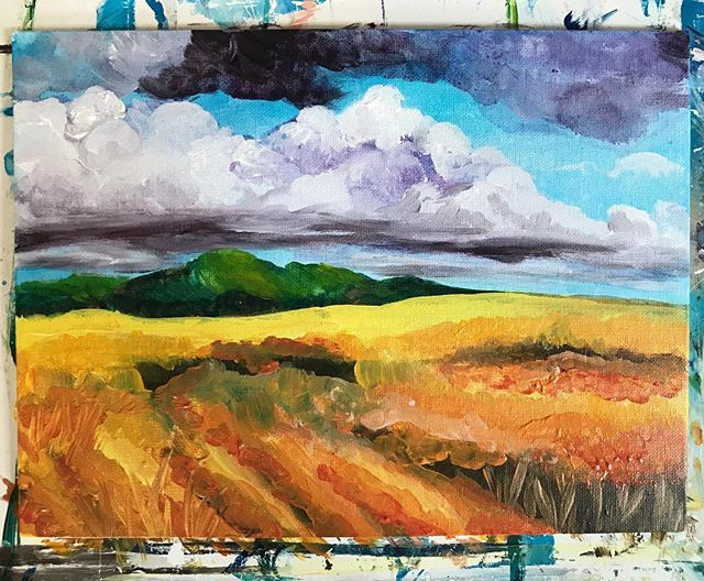 Oooooklahoma where the wind blows every day... come paint some plains with us today!