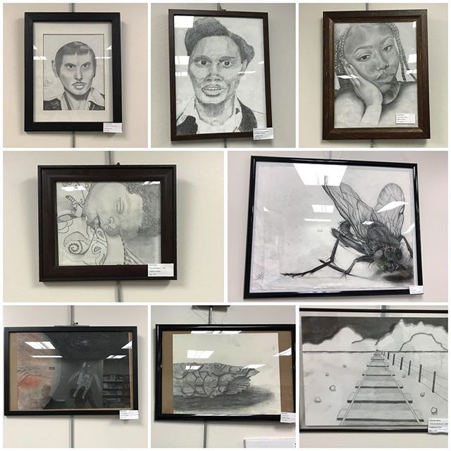 I couldn't be more proud of the Art 121-Drawing I students! 💙 Their drawing show will be at the PDCCC Suffolk Campus Library until April 27th. Stop by and see these wonderful pieces in person!