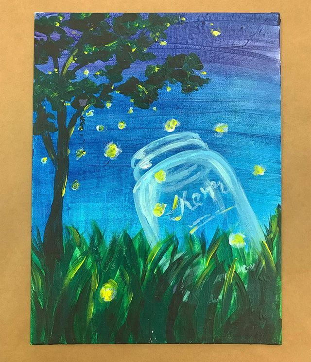 Summertime lightning bugs with the painters! 👩🎨 👨🎨