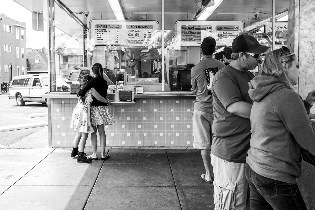 Dick's Drive-In Hamburger Restaurant, Capitol Hill, Seattle, Washington WA, USA by Leica Photographer Manuel Guerzoni