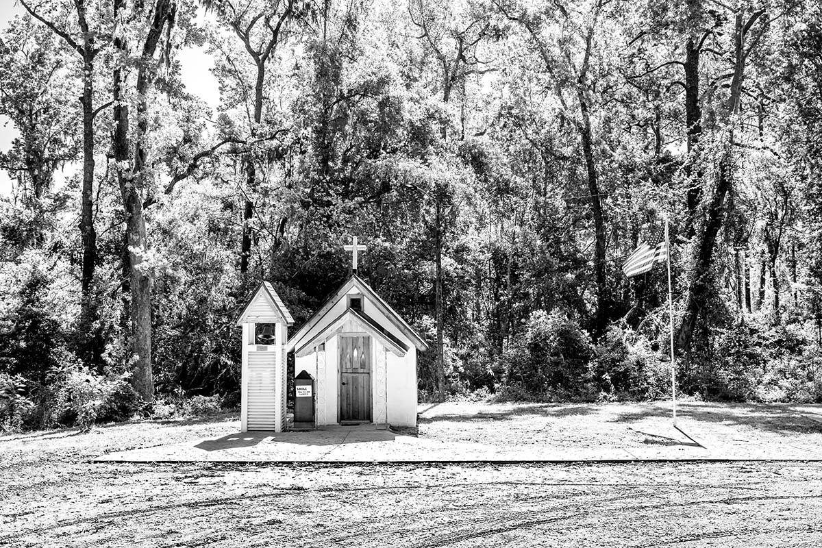 Smallest Church in America, Memory Park Christ Chapel, Townsend, GA 31331