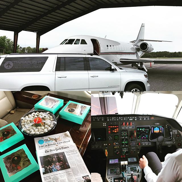 Might be a bit cloudy today in Jersey, but it's always a beautiful day to fly.  Monmouth Jet Center always rockin it. Catering on board @krumbs_by_st and fresh sushi @aisle9market.  There's only one way to fly and that's the ParaFlight way.
