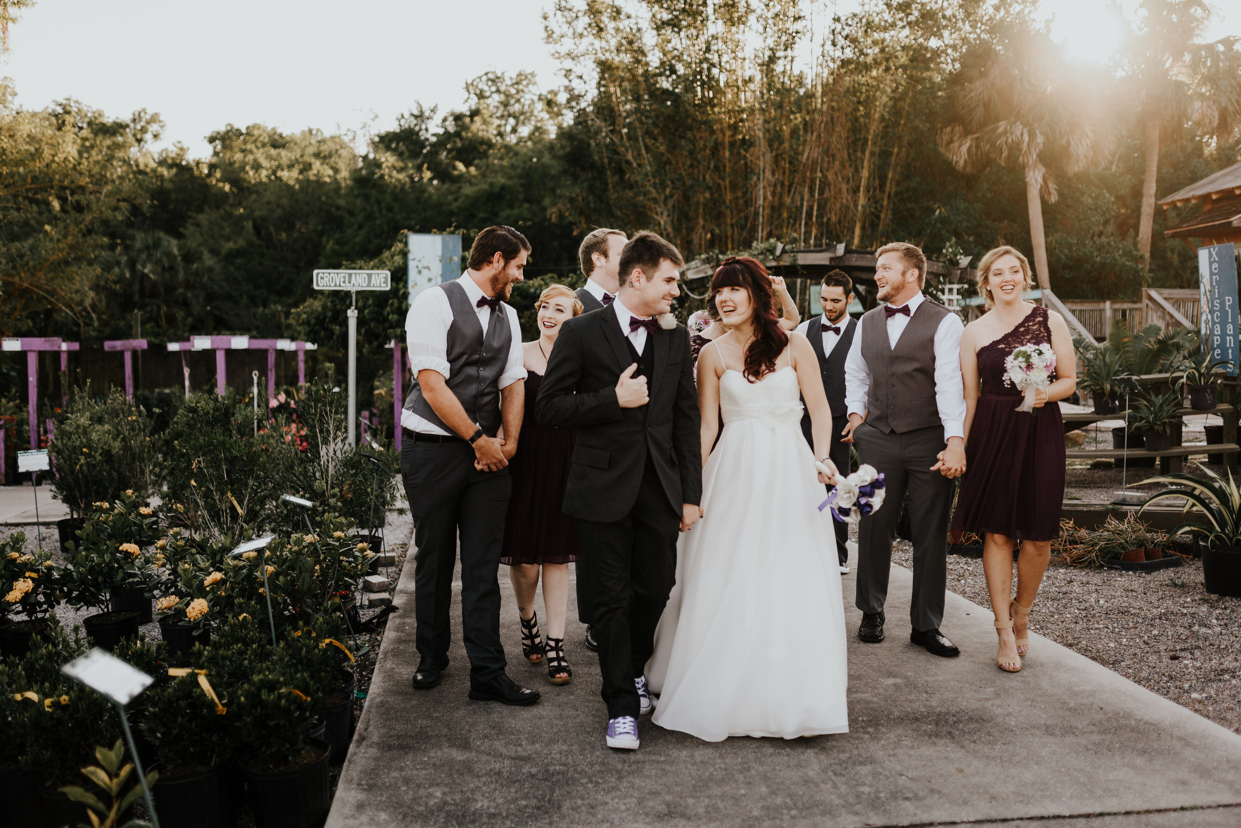 Bridal party photos, whimsical wedding, garden wedding, Rockledge Gardens wedding, wedding photography