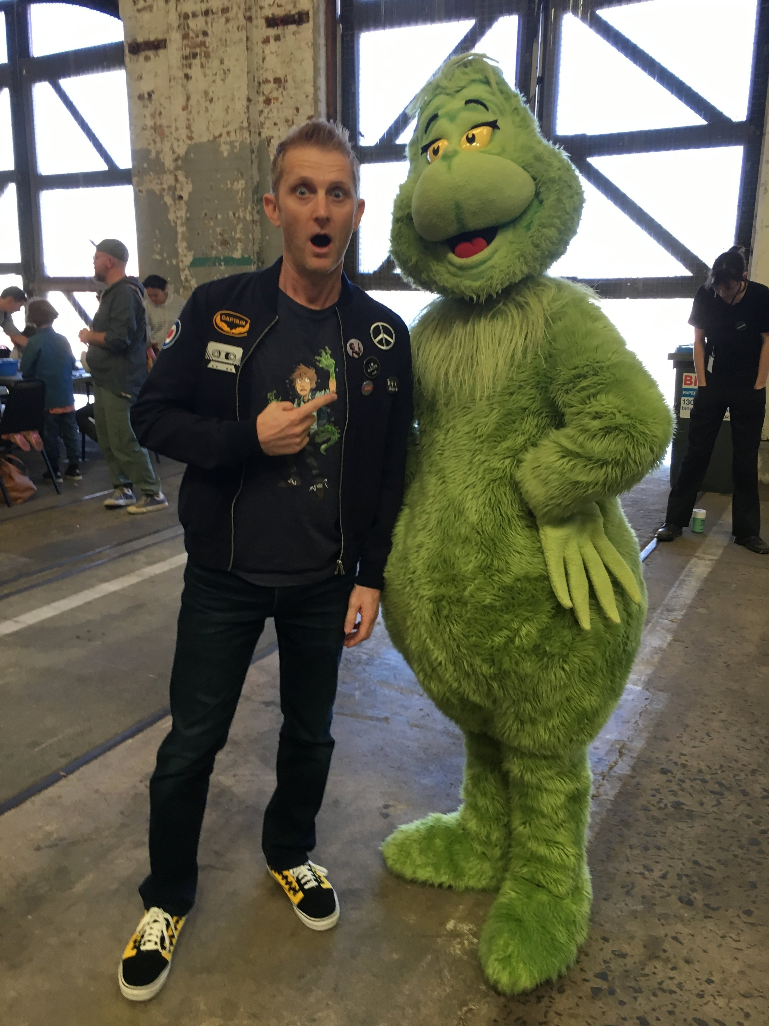 OMG! I met the Grinch at the Sydney Writers' Festival!
