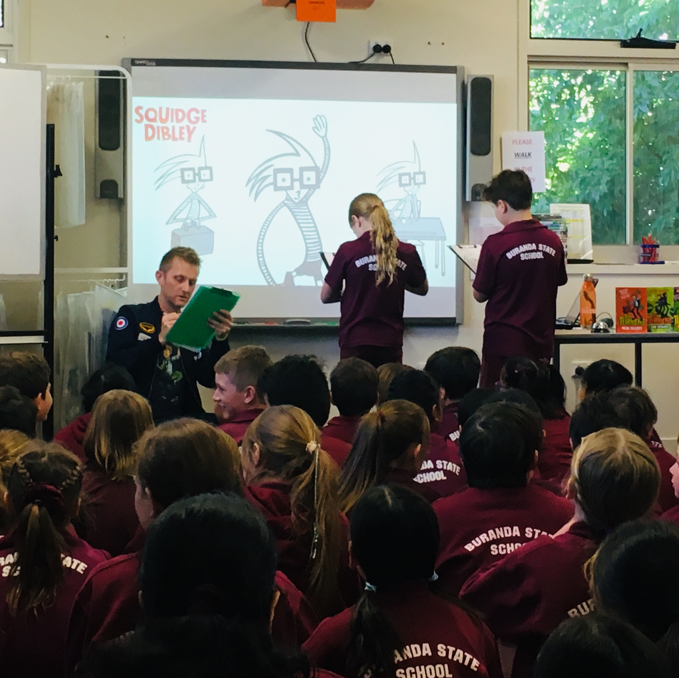Illustrator battle at Buranda State School in QLD. Note the serious-illustrator face(!)