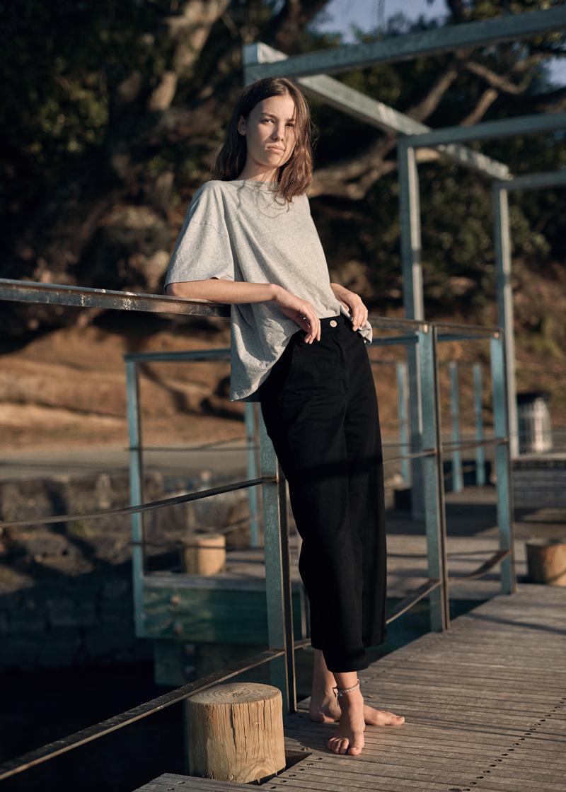 Macy @ Clyne  in my  Everlane  pants and  Georgia Alice  tee.   Photo/ James K Lowe