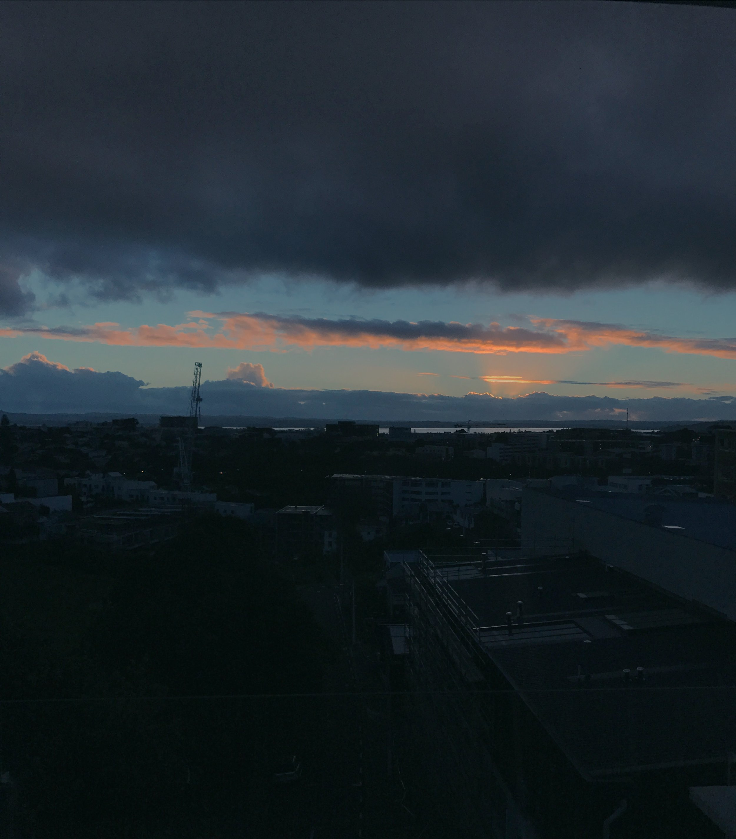 The view from my new apartment. .