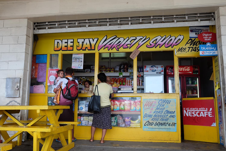 Shop at the Mulifanua Wharf in Upolu
