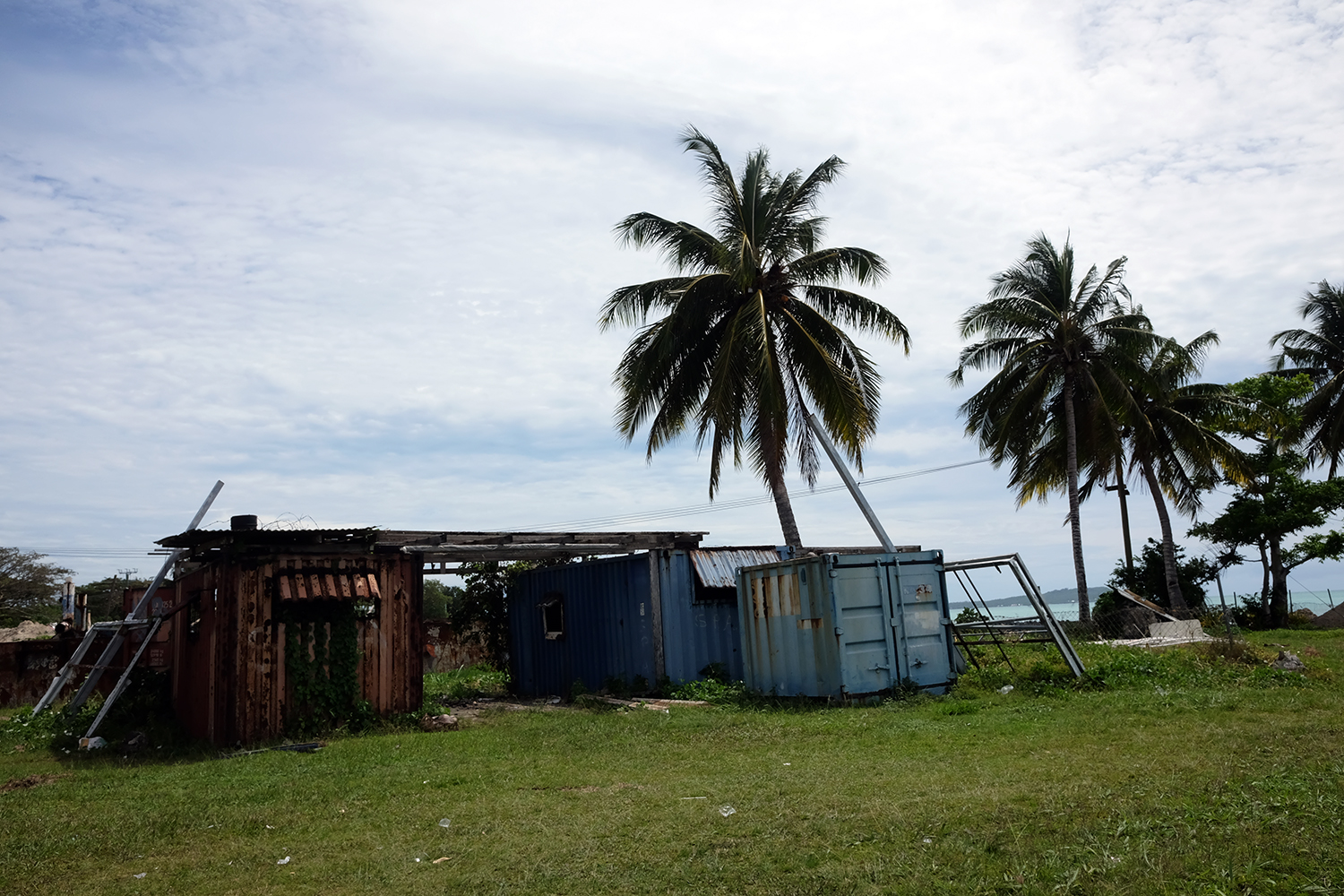 Containers at the Mulifanua Wharf in Upolu