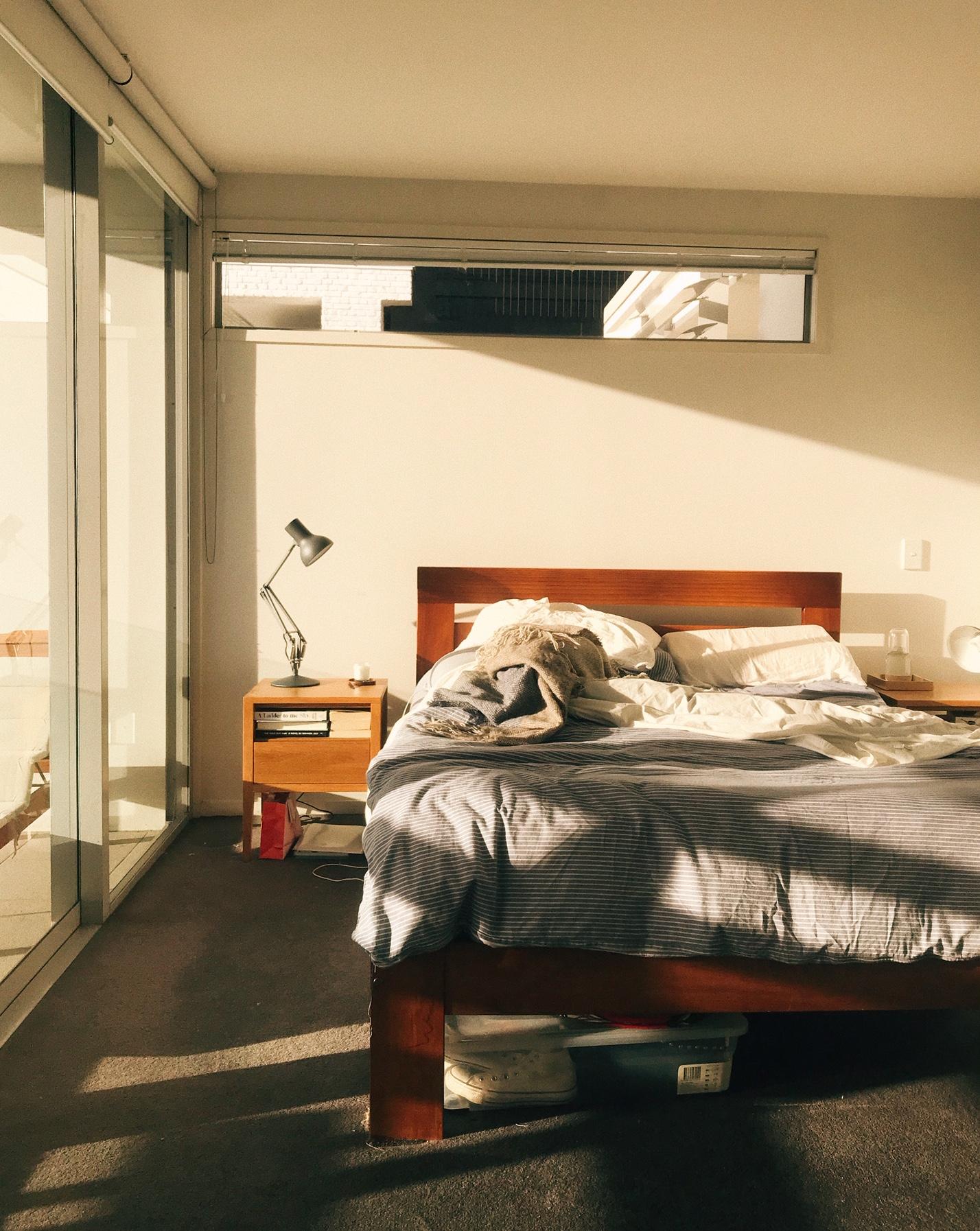 My bedroom in summer.