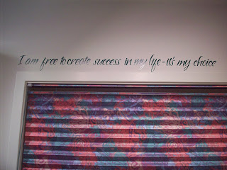 Special saying in my sewing studio with vinyl letters