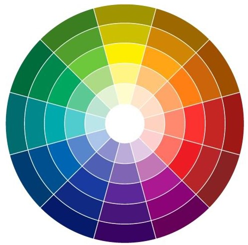 You can use any color variation with regards to values, light or dark. This color wheel shows the variation of each color on the wheel.
