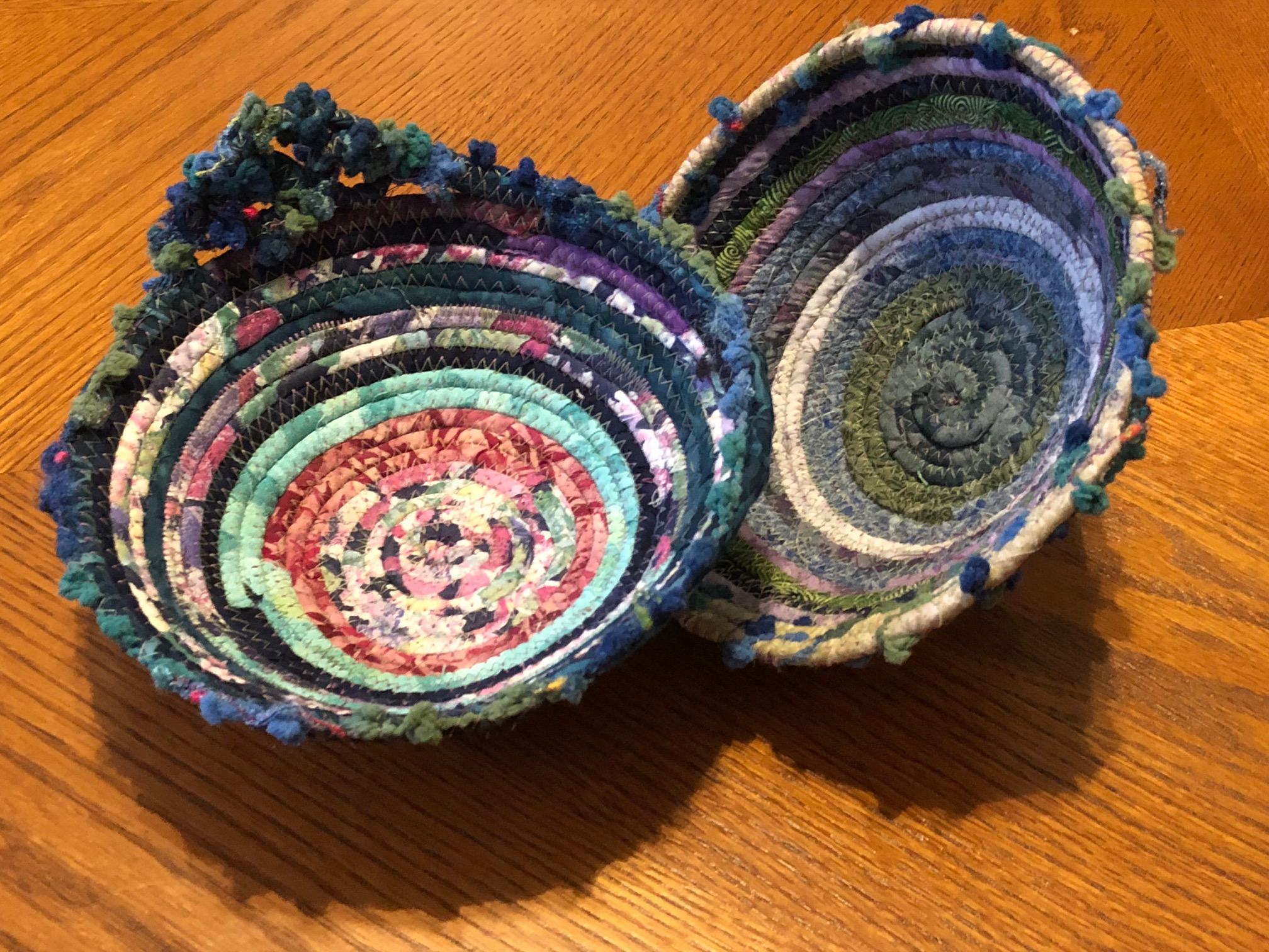 It was many inches of fun stitching to create these bowls. The class really enjoyed seeing how easy these are to make.