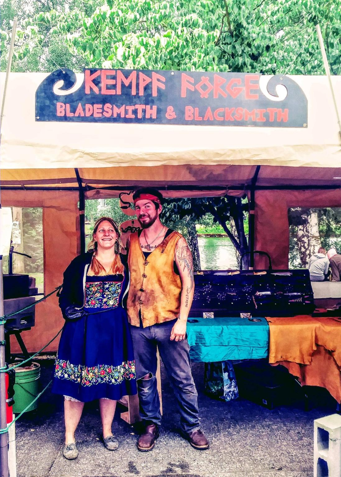 Myself and my Lovely Wife Sami at the Fremont Solstice festival in Seattle.