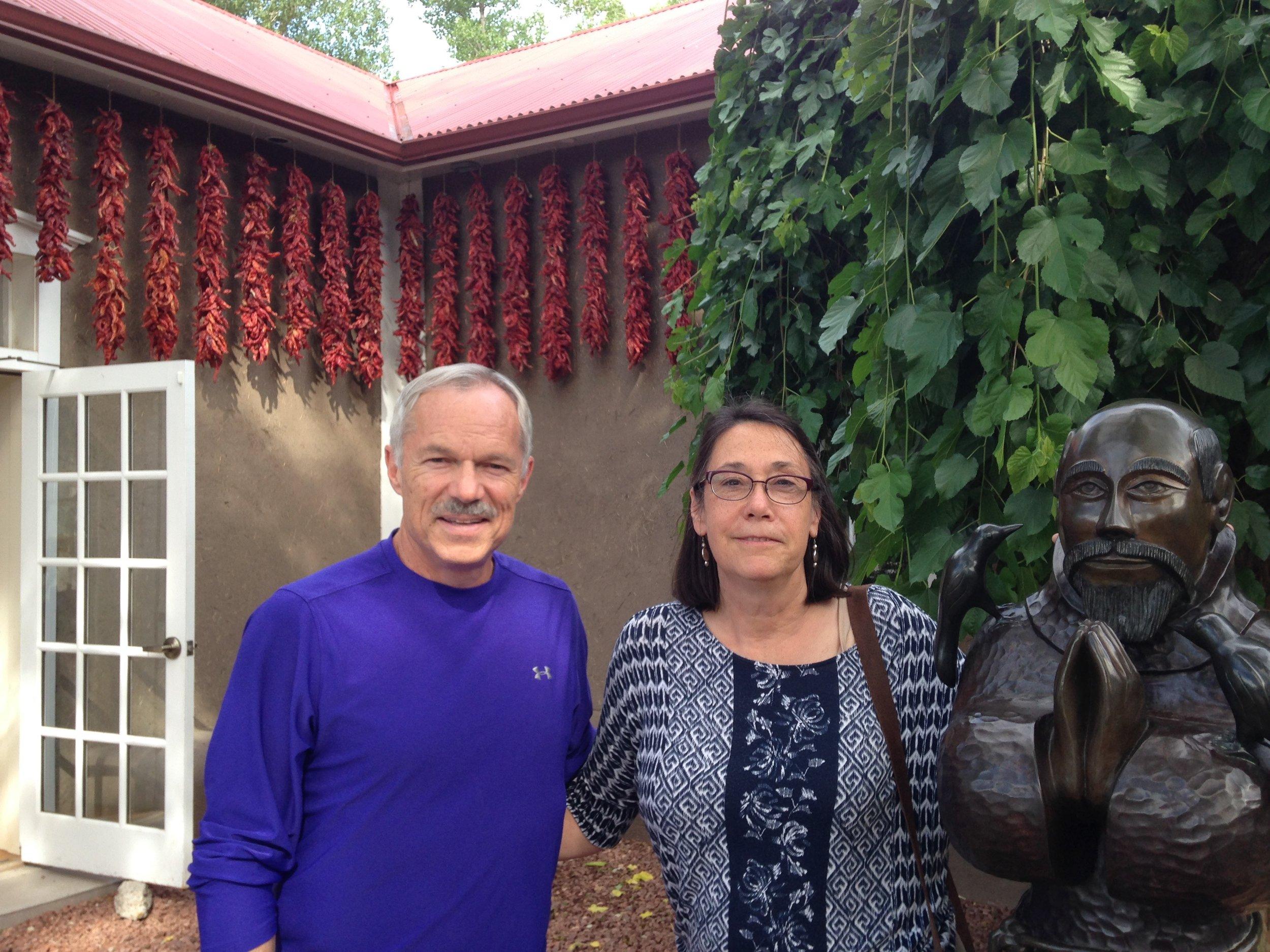 Jay and Mary Fran at Rancho de Chimayo