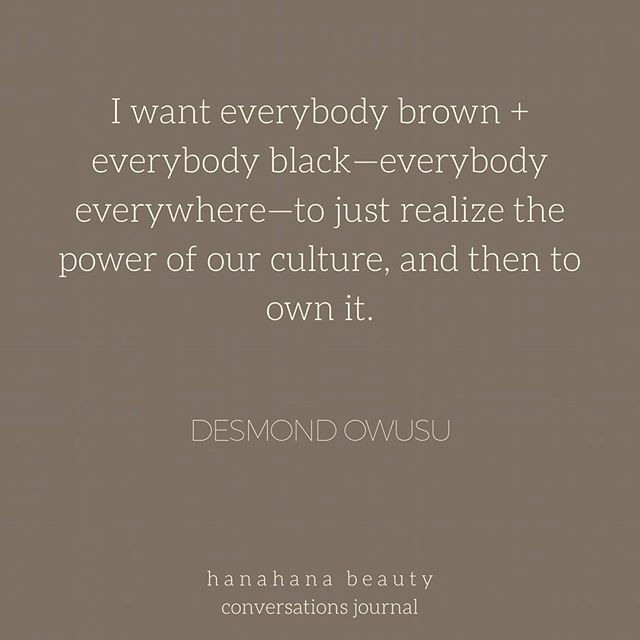 we're rooting for you🙌🏾 here's some afternoon love for ya.💛 #motivationmonday from @_desmoney's interview with @beanieboamah - first ever conversations journal out now #linkinbio - shoutout to our amazing editor @afrollenialauntie for transcribing this dialogue so powerfully with text + audio. #hanahanatribe #hanahanabeauties