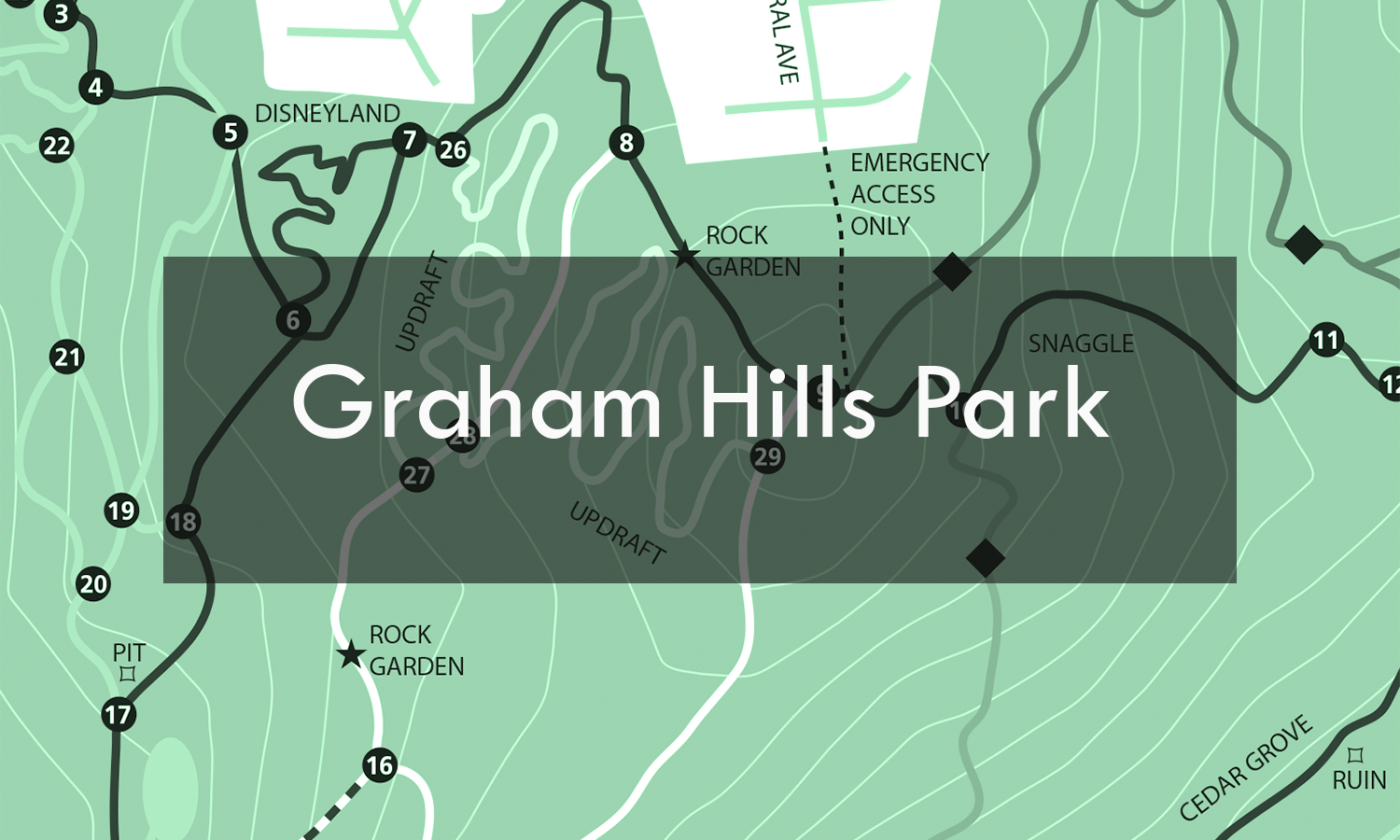 Graham is a great place to ride if you want to get in a fun one with limited time. With some technical options, this park lends itself to the intermediate rider.