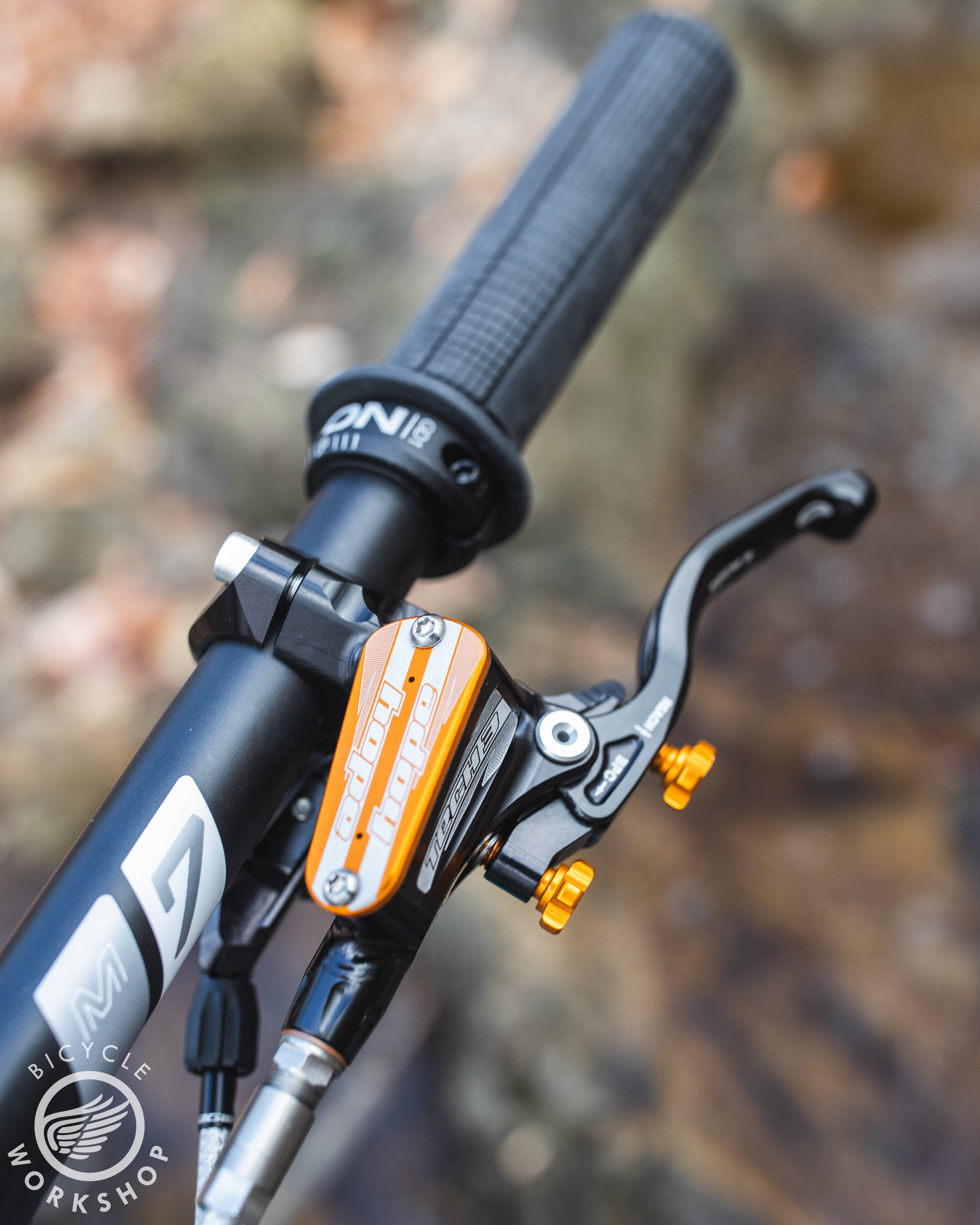 Hopetech levers with orange bits