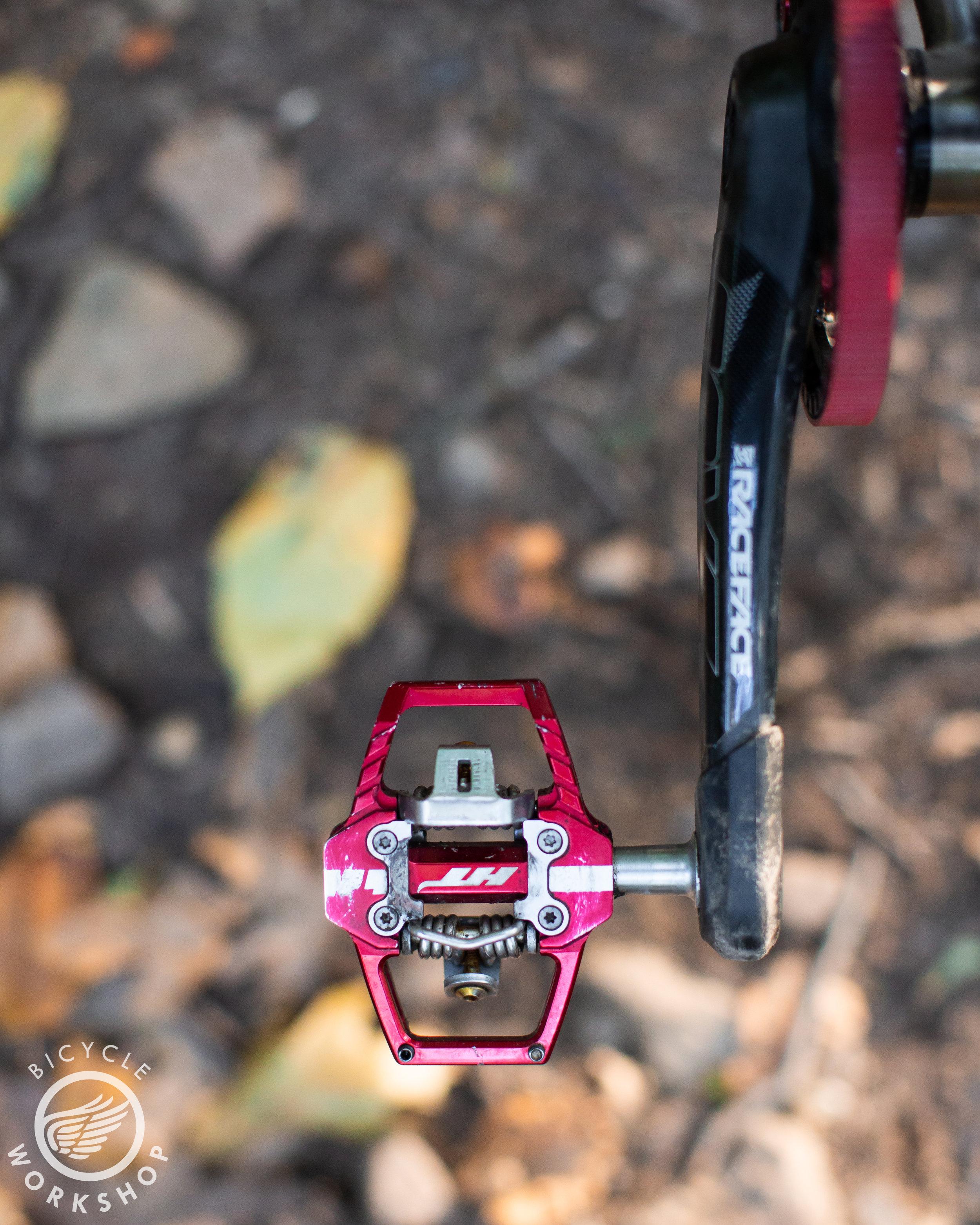 HT pedals with Raceface Next-R cranks