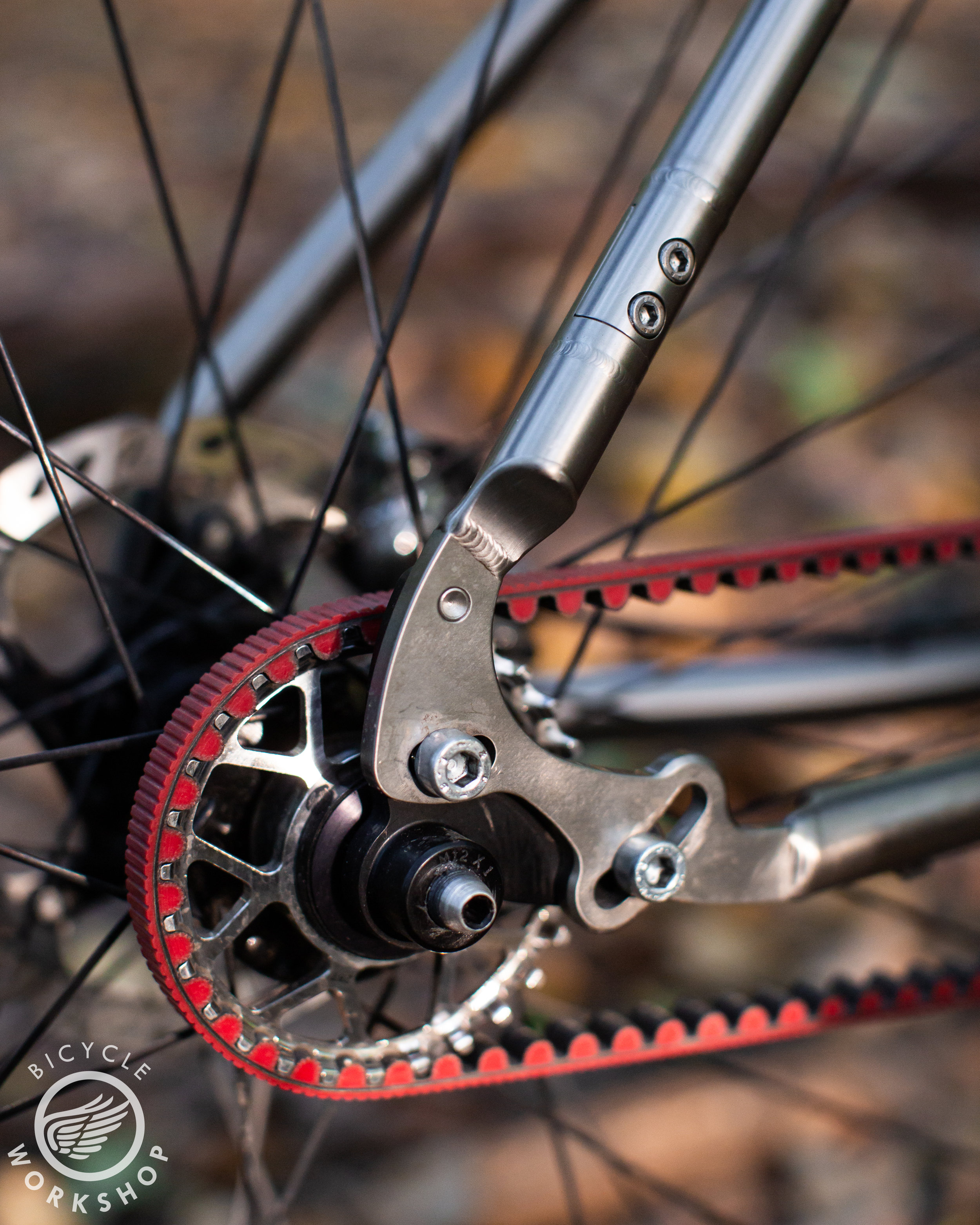 Gates Carbon Belt drive with custom TBW axel