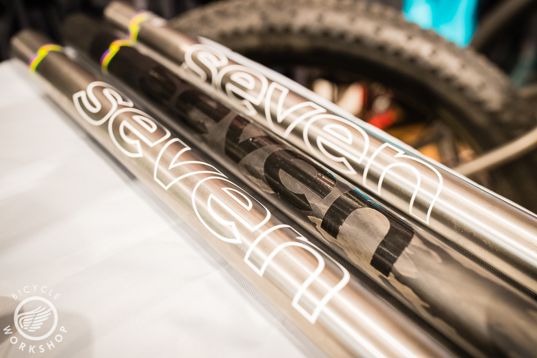Seven's different tube sets. Straight gauge, butted, ultra-butted (not shown), and Carbon