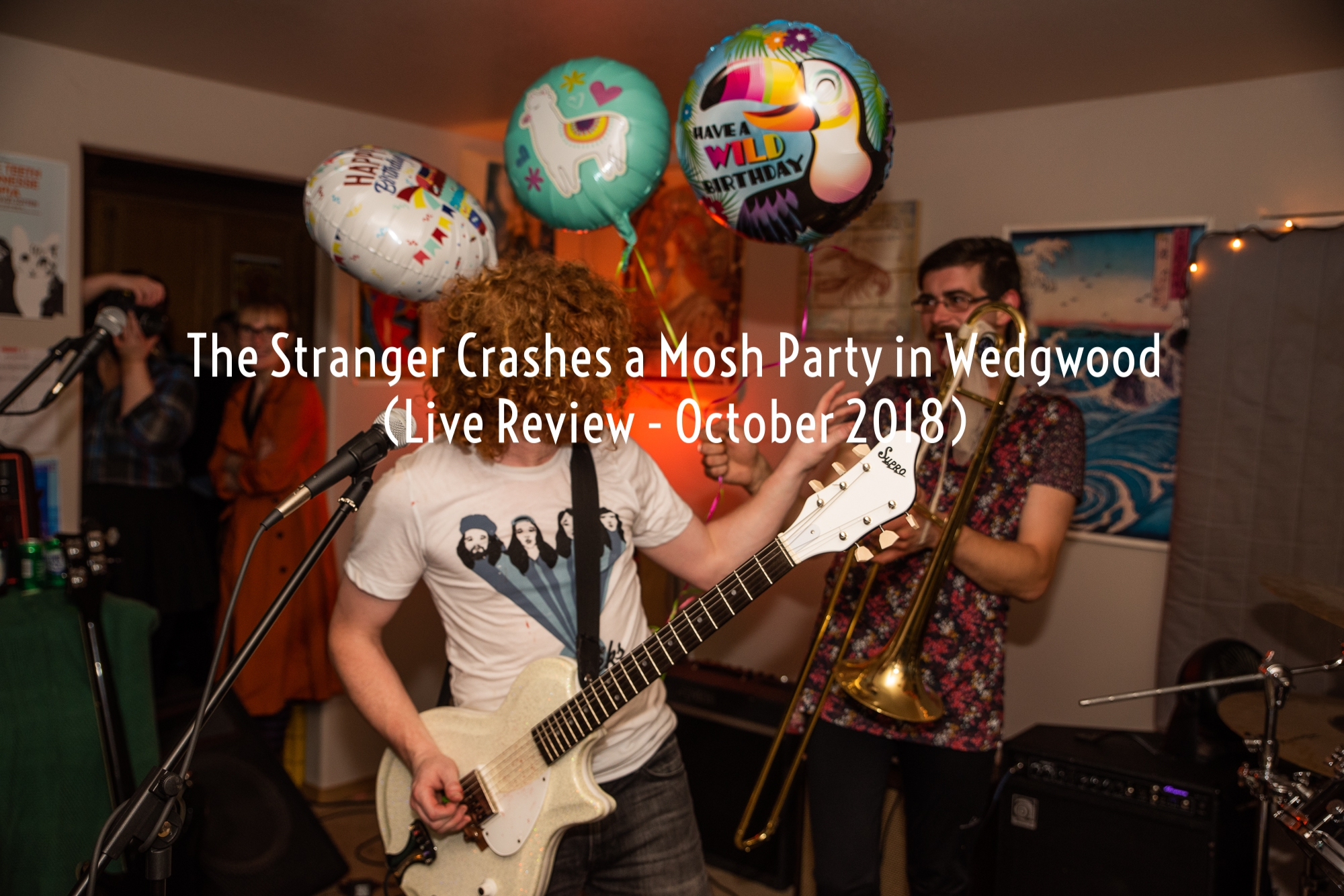 """Actionesse, the ""post-horncore"" house band, was equipped to get loud…Shit got full-on moshy as the birthday boy went from rocking out on top of a piano to splatting onto his back on the floor—all while still playing the guitar."" - The Stranger"