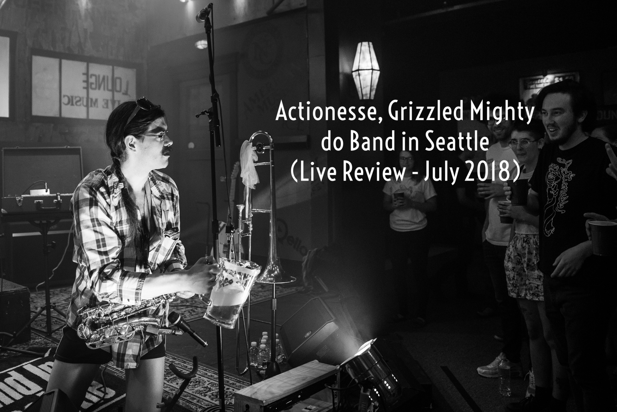 """Actionesse puts on one of the best live shows in Seattle right now, and they don't do it by way of wacky outfits or fancy light shows: they do it by sheer force of intensity in both their music and their deportment."" - Seattle Music Insider"
