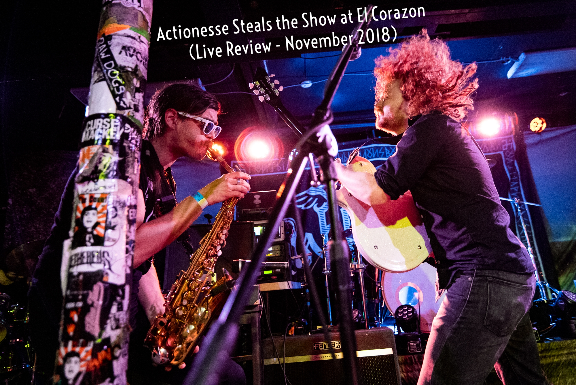 """Halfway through the show, provided with ample backbone by drummer Jimmy Colven, the quartet was joined by a guest horn star on the [baritone] saxophone. What followed was life changing."" - Dan's Tunes"