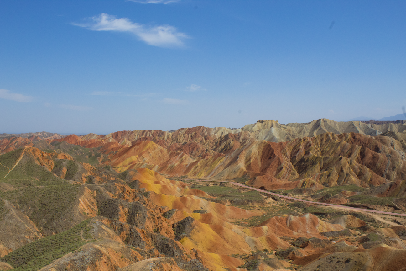Some say the coloured mountains of Zhangye inspired Aladdin's magical carpet. And by 'some', I mean me. I say that.