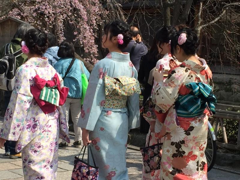 Geisha costumes in Kyoto, Japan