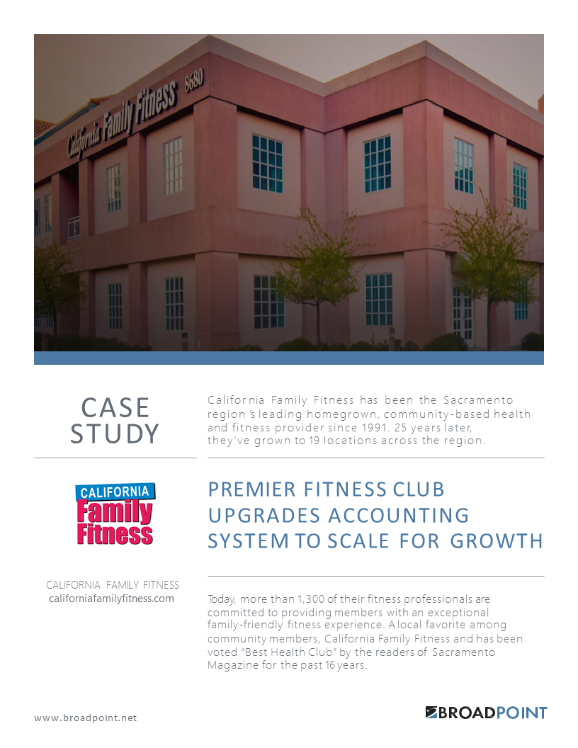 California Family Fitness Case Study
